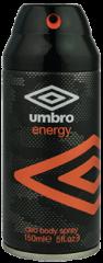 Umbro Deodorant Body Spray Energy 150ml
