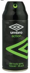 Umbro Deodorant Body Spray Action 150ml