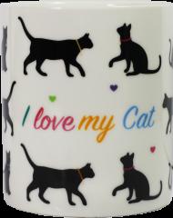 New Bone China Mug - I Love My Cat
