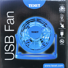 Texet USB Fan Boxed 2 Assorted Colours Pink & Blue