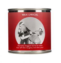 Wax Lyrical Christmas Tin Candle 200g - Santa's Naughty List