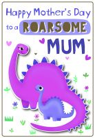 Mothers Day Roarsome Mum Poppet Card 24cm x 36cm