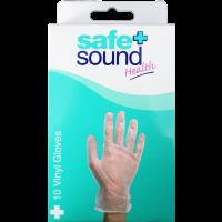Safe & Sound Vinyl Gloves 10 Pack