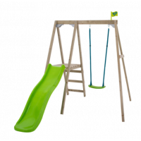 TP Forest Single Swing Set with Slide