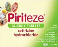 Piriteze Allergy 10mg Tablets 7's