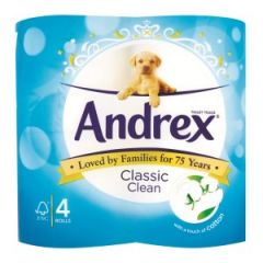 Andrex Toilet Roll Classic Clean 4pk