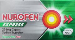 Nurofen Express Caplets 256mg 16's