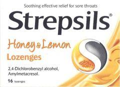Strepsils Honey & Lemon Lozenges 16's