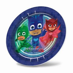 "PJ Masks 9"" Round Plates Pack of 8"