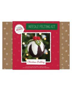 Needle Felting Kit - Christmas Pudding