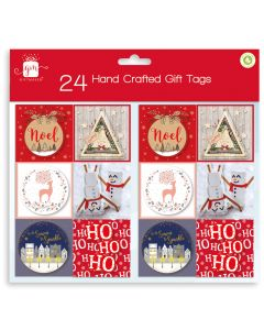 24 Hand Crafted Contemporary Gift Tags Hang Pack