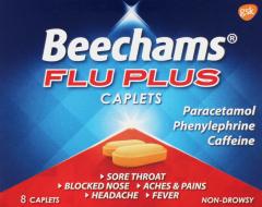 Beechams Flu Plus Caplets 8's