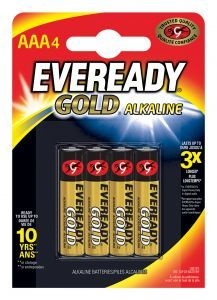 Eveready Gold Alkaline AAA Batteries 4pk