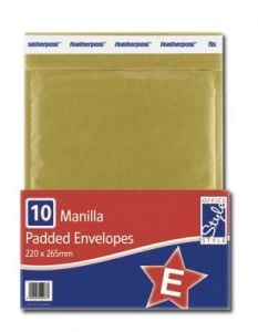 Office Style Padded Envelopes Gold 200mm x 265mm Size E
