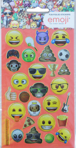 Licensed Character Stickers Small Foil Packs - Emoji 1