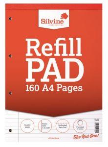 Silvine A4 Refill Pad 80 Sheets Feint & Margin
