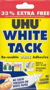 UHU White Tack 33% Extra