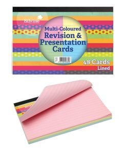 Revision & Presentation Lined Notecards 152mm x 102mm 3 Colour Blocks 48's