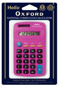 Oxford Basic Calculator Pink