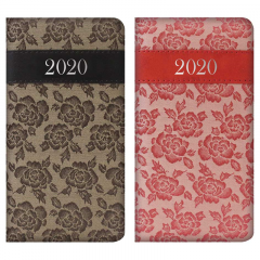 2020 Slim Diary WTV Embroidered Two Tone Roses CDU