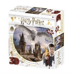 Super 3D Harry Potter 300 Piece Jigsaw Puzzle - Hogwarts and Hedwig