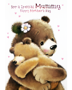 Mother's Day Card Mummy - Bears Hugging