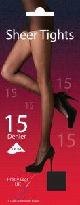 Pretty Legs Tights 15 Denier Nearly Black Medium/Large
