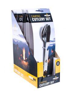 Milestone Camping Cutlery Set 3pc