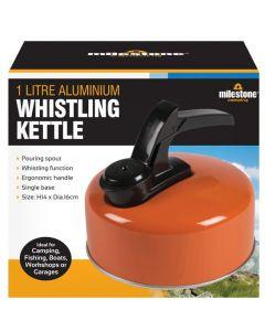 Milestone Camping Aluminium Whistling Kettle 1L