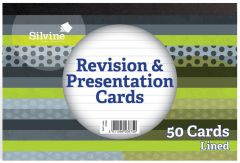 Silvine Lined Revision & Presentation 50 Cards