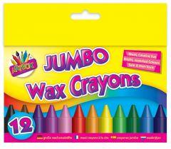 Wax Crayons Large 12's