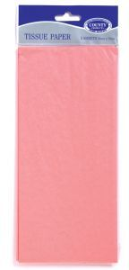 Tissue Paper 5 Sheets Hang Pack - Pink