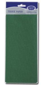 Tissue Paper 5 Sheets Hang Pack - Green