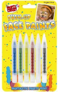 Face Paints Crayons 5 Assorted Colours Hang Pack