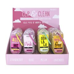 Mad Beauty Clip & Clean Hand Sanitizers 69.3% Alcohol 30ml - Sayings