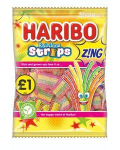 Haribo Rainbow Strips Z!ng £ PMP 130g