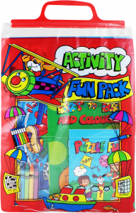 Activity Carry Pack Colouring/Activity Books & Coloured Pencils