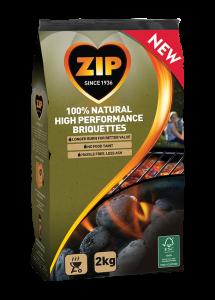 Zip 100% Natural Charcoal Briquettes 2kg