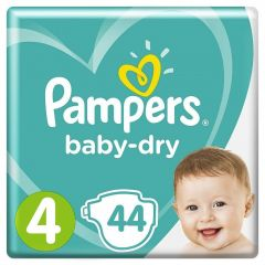 Pampers Baby Dry Nappies Size 4 Maxi Essental Pack 44's