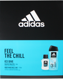 Adidas Ice Dive Gift Set - EDT 50ml & Shower Gel 250ml