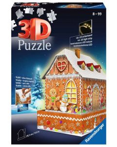 3D 216 Piece Gingerbread House Puzzle