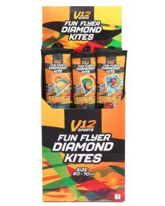 V12 Fun Flyer Diamond Kite 60x70cm