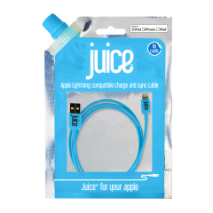 Juice USB - Lightning Connector Cable - Aqua 1 Mtr