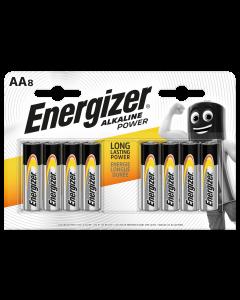 Energizer Alkaline Power AA Batteries 8pk