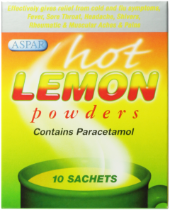 Aspar Hot Lemon Powders 10's