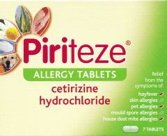Piriteze Allergy 10mg Tablets 7's