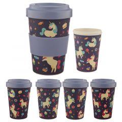 Biodegradable Screw Top Travel Mug - Enchanted Dreams Unicorn