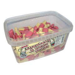 Strawberry & Cream Choc Bottle 5p Sweets