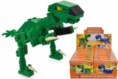 Dinosaur Brick Set Assorted in CDU