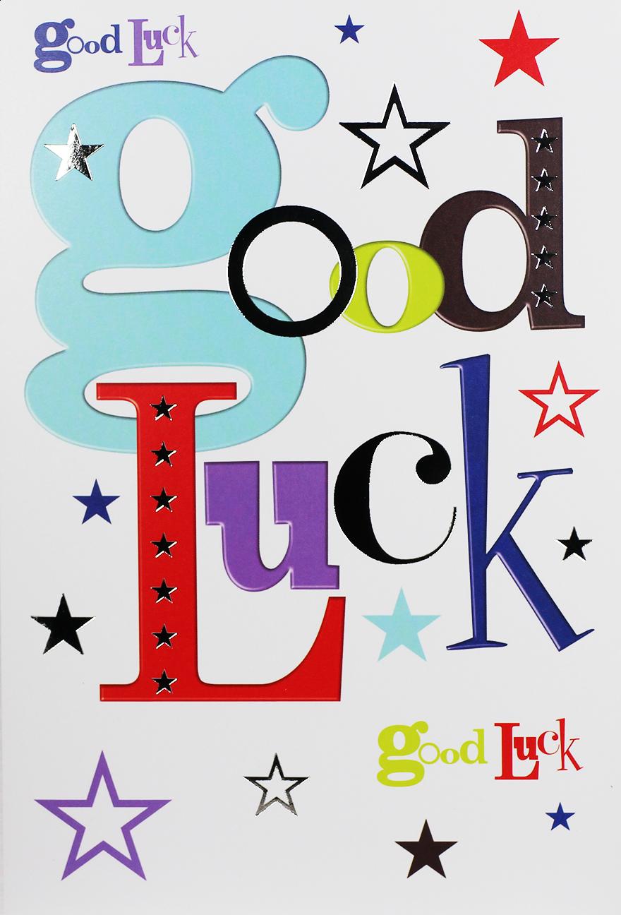 GOOD LUCK Card Simon Elvin Word Play